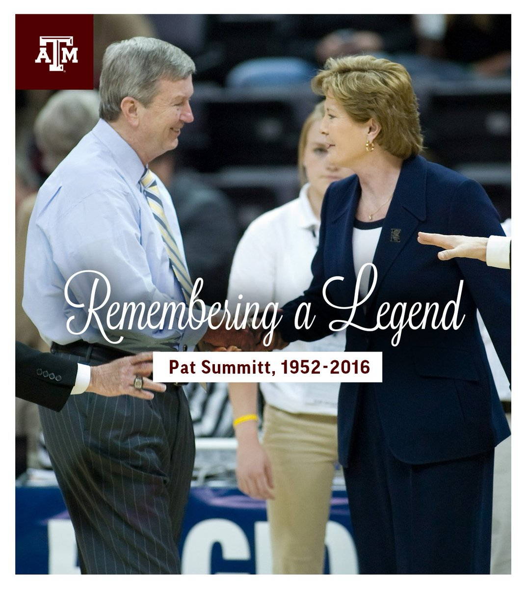 The Aggies express their deepest condolences to the family of Pat Summitt and the entire @LadyVol_Hoops community. https://t.co/YRzjYRZ2di