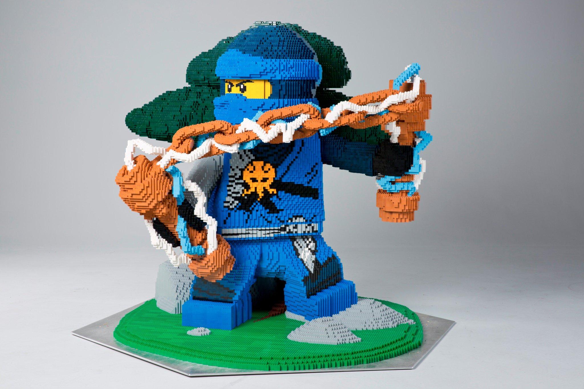 Lego on twitter that 39 s one big ninja lego jay took 64 148 bricks and 345 hrs see the model - Lego ninjago saison 7 ...