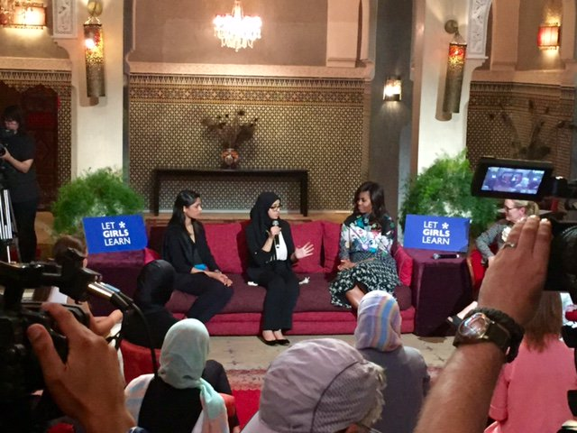 """It just makes sense for boys AND girls to be educated & involved & empowered.""–@FLOTUS in Morocco #LetGirlsLearn https://t.co/hZ3y1B49hf"