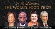 2016 World Food Prize goes to Maria Andrade, Robert Mwanga, Jan Low, Howarth Bouis! #FoodPrize16 #Biofortification https://t.co/YSrY4UDiah