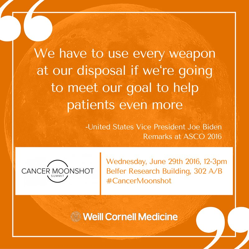 How @WeillCornell @MeyerCancer & @engIPM are changing cancer as we know it @ #MoonshotSummit https://t.co/AEbiAugkon https://t.co/XeQq9KX2uT