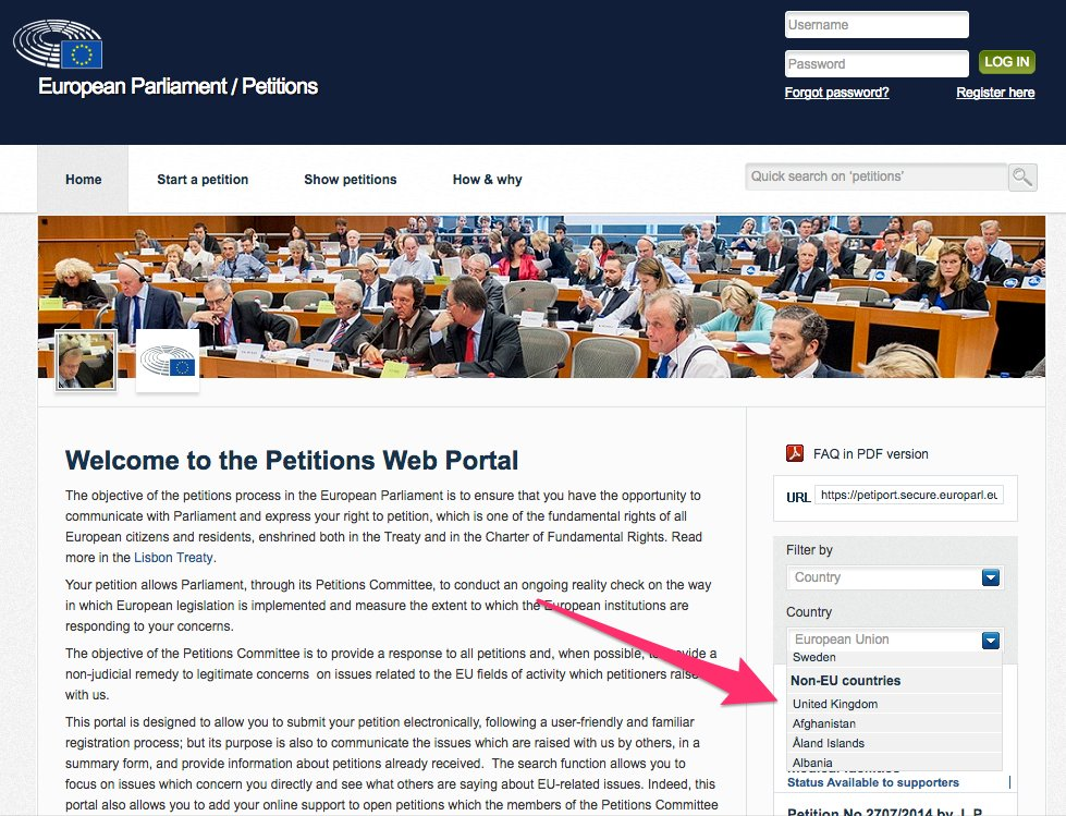 So, it looks like @Europarl_EN European Parliament website has already enacted Article 50 then?! https://t.co/YPdeNQ3RC9