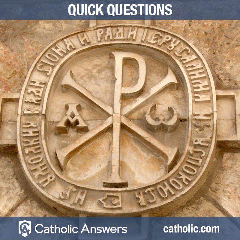 Catholic Answers On Twitter What Does The Symbol Of The P With An