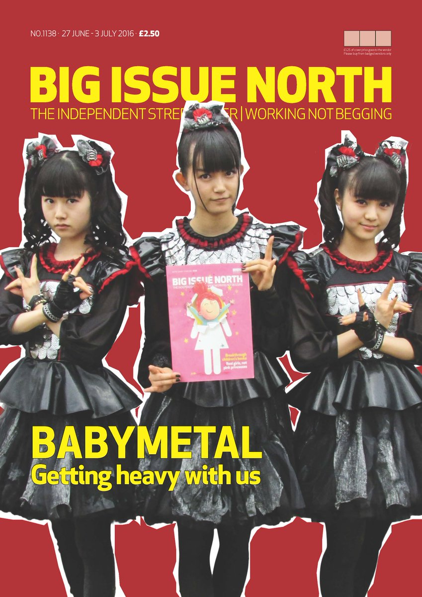 Want the mag with #BABYMETAL on the cover but don't live in the north? Email fundraising@bigissueinthenorth.com https://t.co/LBBLDX9DEc