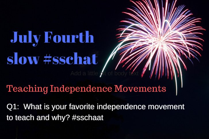 Q1:  What is your favorite independence movement to teach and why? #sschat https://t.co/gXU3ALICZR