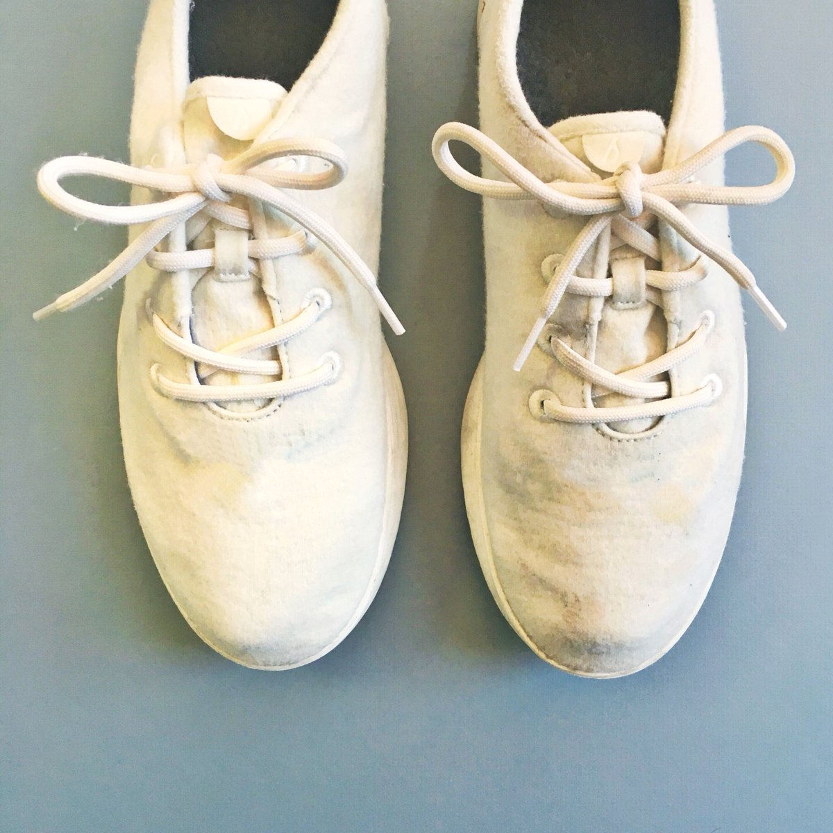 keeping white shoes clean is tough