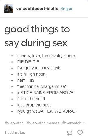 What to say durring sex