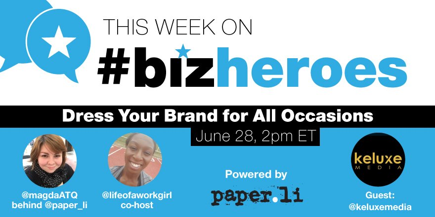 Gearing up for #bizheroes with @keluxemedia!! Join us! https://t.co/Rfgc1IepUC