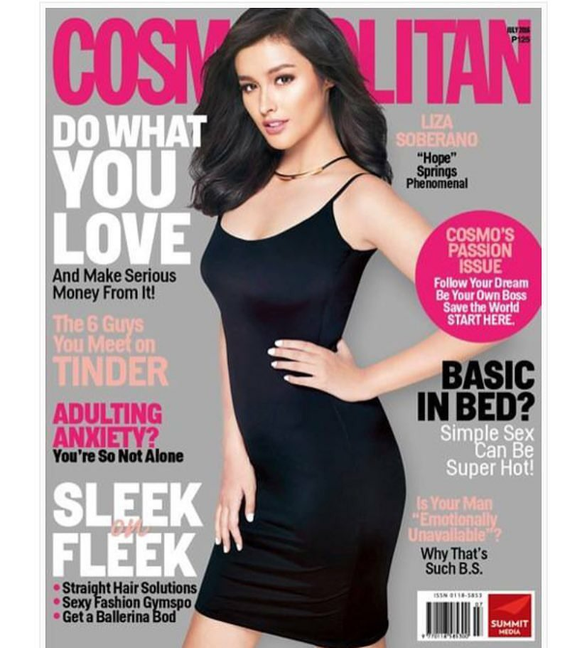 3981f3fc142 look liza soberano glowing in a sleek black dress cosmopolitan phils  phenomenal covergirl for july 2016