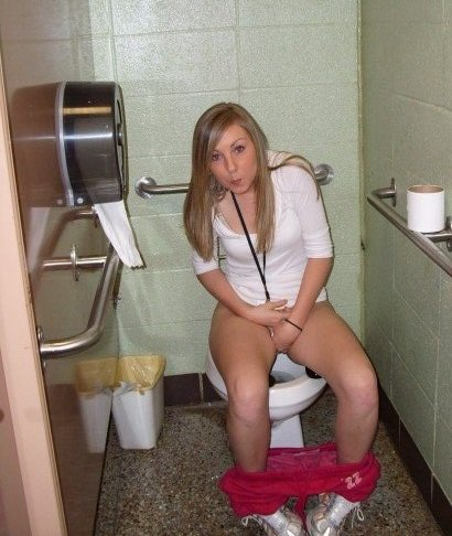 Girl toilet russian