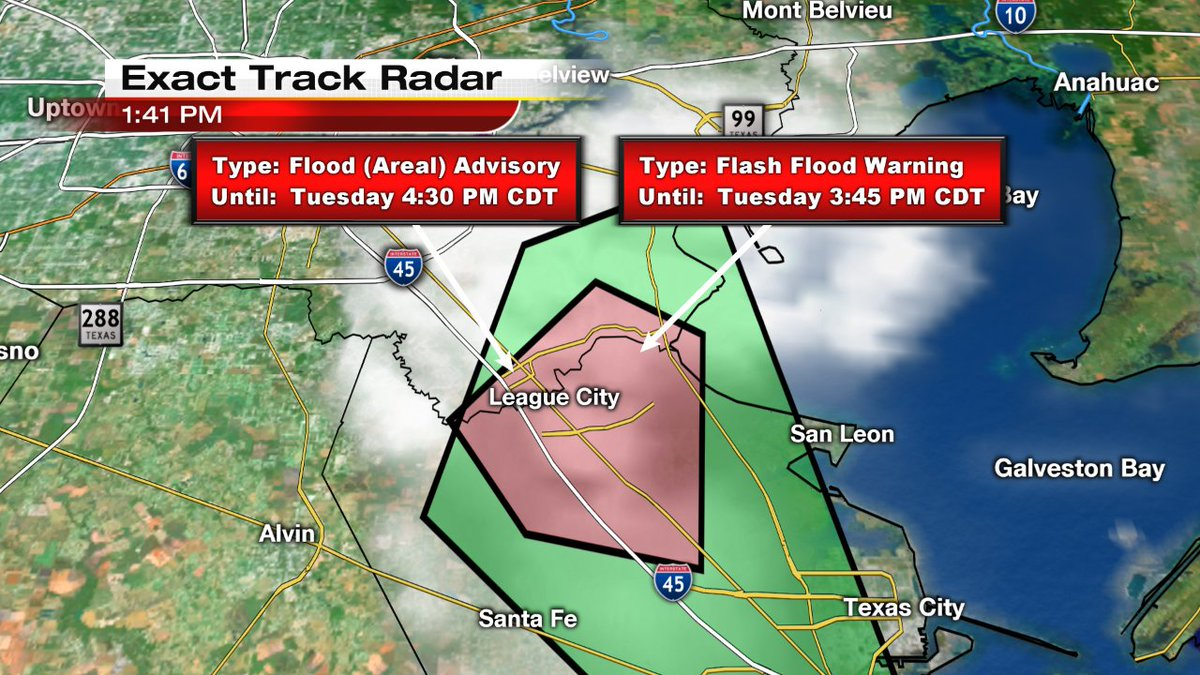Flash Flood Warning Until 3 45 In Inson League City Area