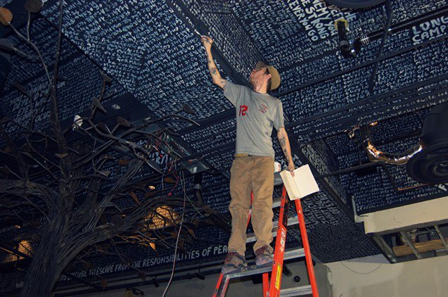 Meet the artist behind @5ChurchATL's strategic ceiling art: https://t.co/U6djpfIcA5 https://t.co/RUfz6oa8ss