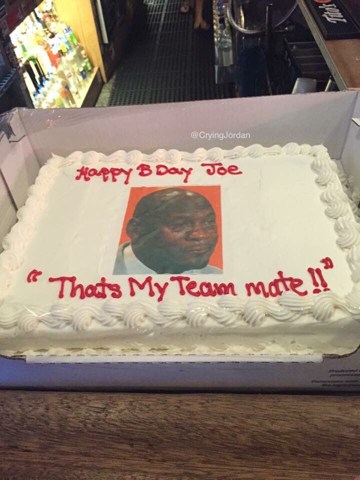 Crying Jordan on Twitter This dude Joes birthday cake is