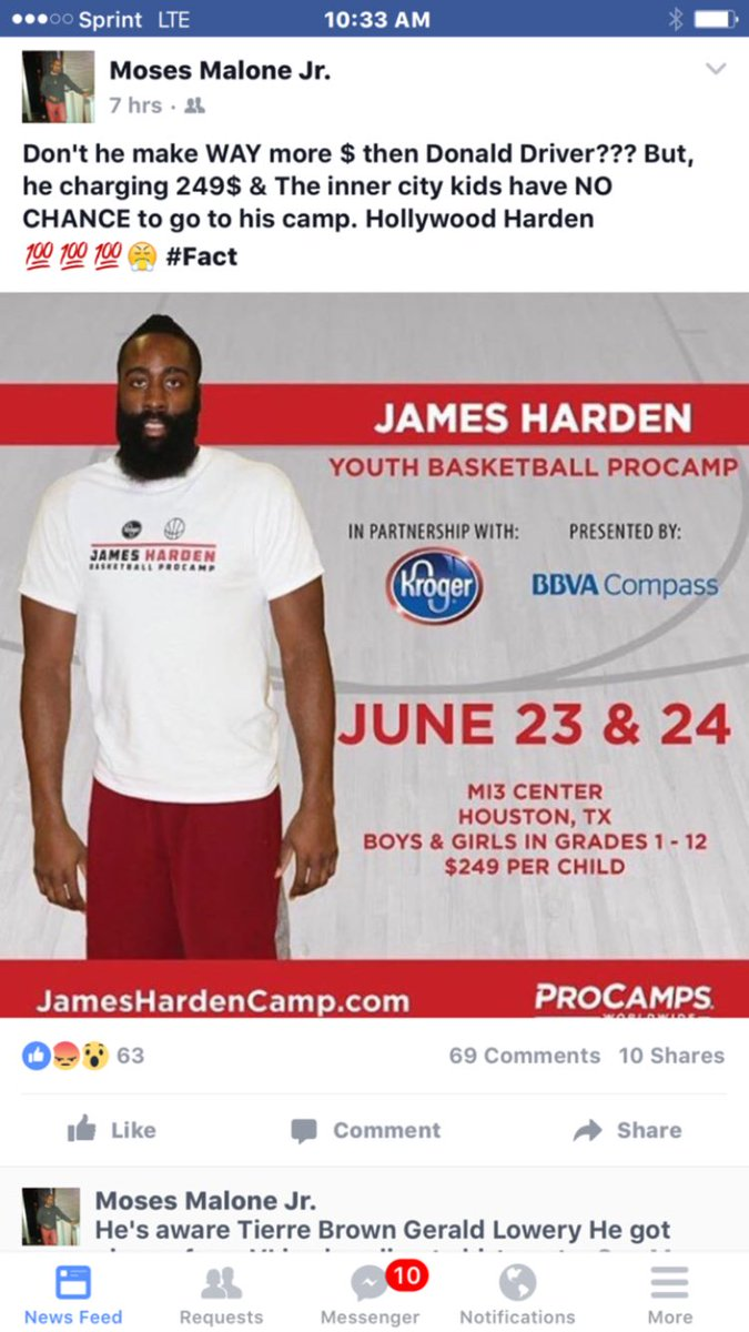 545db3f419ea ... Malone believes upset Harden. View image on Twitter