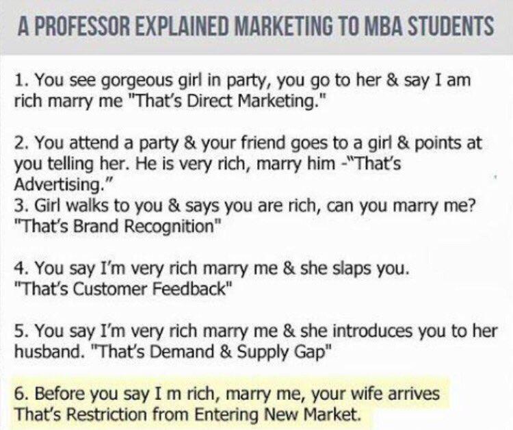 Alice Vachet On Twitter A Professor Explained Marketing To Mba
