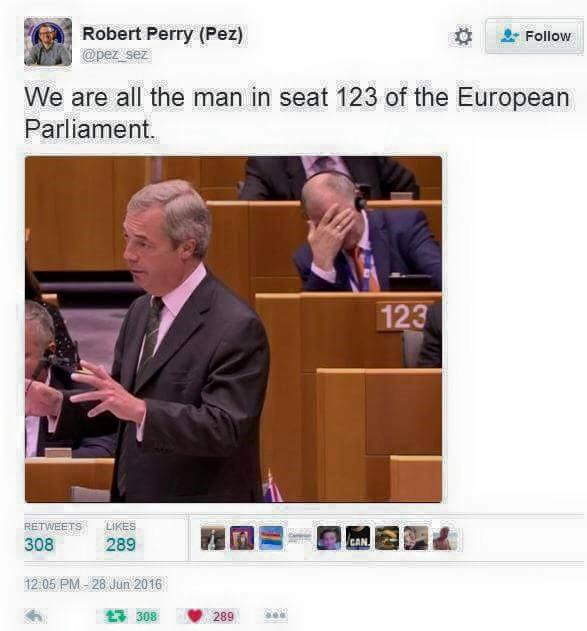 Farage is entitled to his view. He's entitled to express it... But I'm with the man in seat 123 #Seat123 https://t.co/1wdmFk0fu0