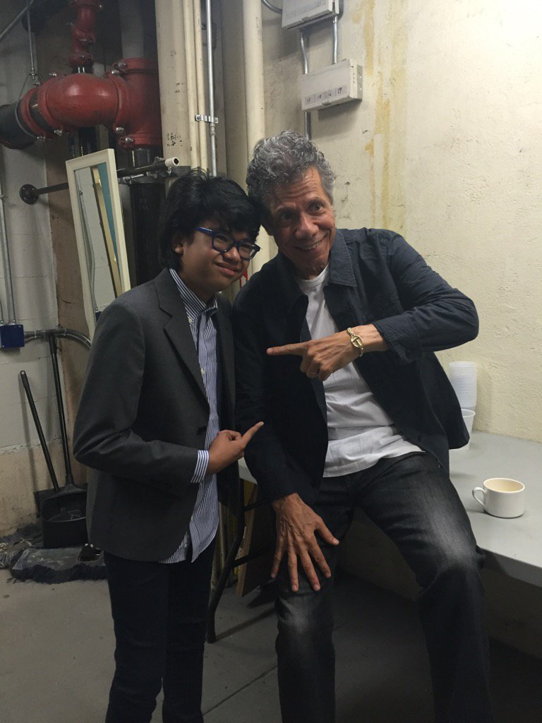 Four brilliant hands. @ChickCorea and @_JoeyAlexander meeting back stage. #XRIJF https://t.co/BDcc0LhzCT