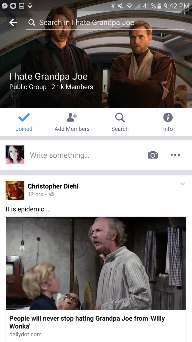 Grandpa Joe Meme Willy Wonka