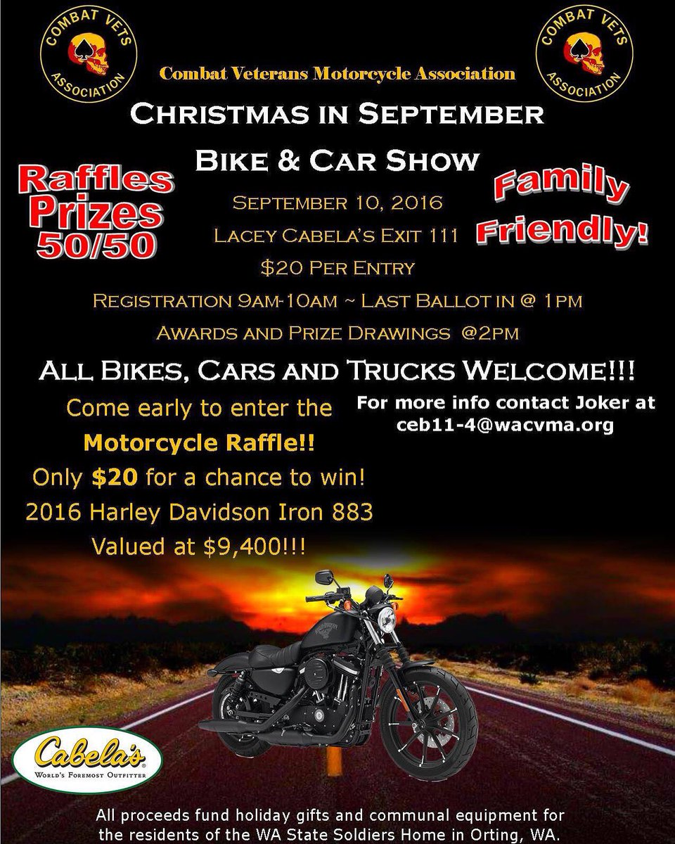 Ken On Twitter WA CVMA Christmas In September Bike And Car - Cabela's car show