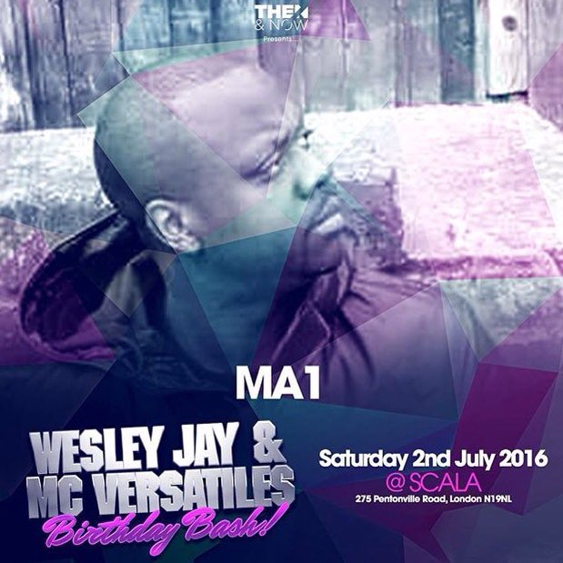 This Saturday catch me at Scala Kings Cross! Shouts to @WesleyJay and @MCVersatile