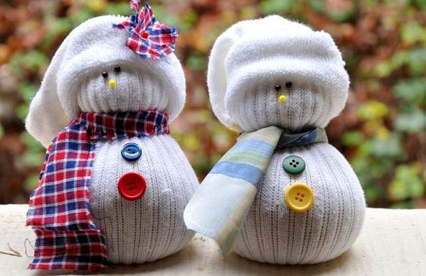 снеговик своими руками из ткани