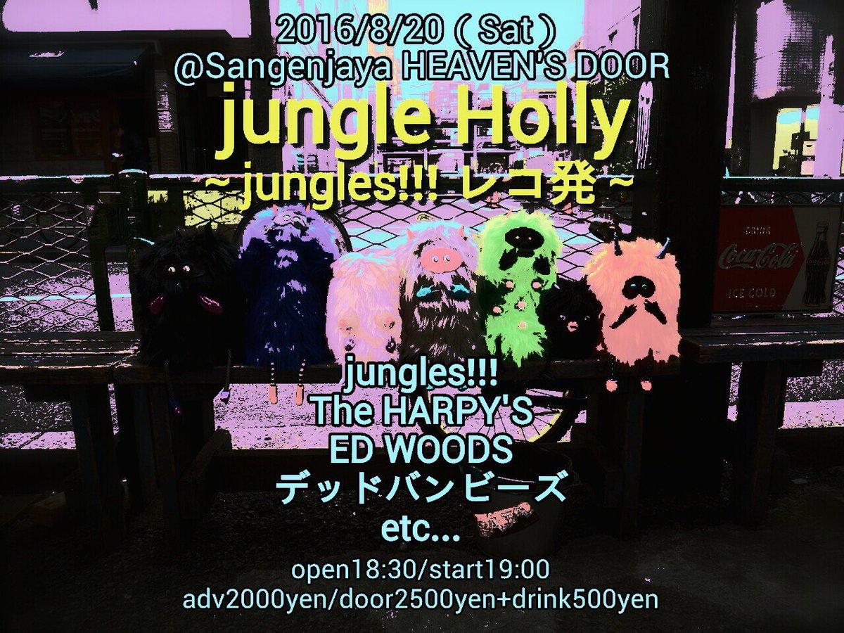 8月20日(土)三軒茶屋 HEAVEN'S DOOR 【jungle Holly~jungles!!!レコ発~】