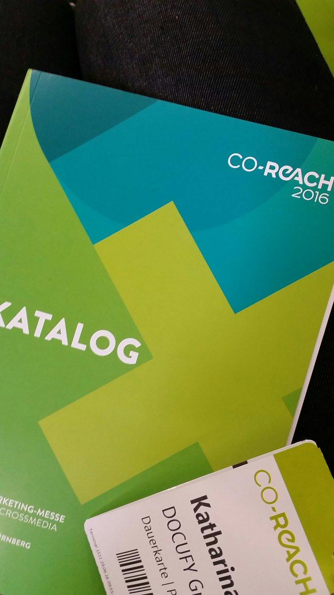 Heute auf der Agenda: @COREACHmesse #dialogmarketing  #nürnberg #CoReach https://t.co/WJ1H82hLrQ