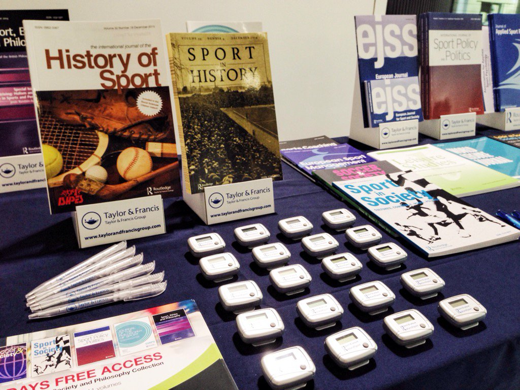 Ready to go @ISHPES! Come say 'hello', check out our books + journals, and pick up pens + pedometers #sport #history https://t.co/lb5GPRQD83