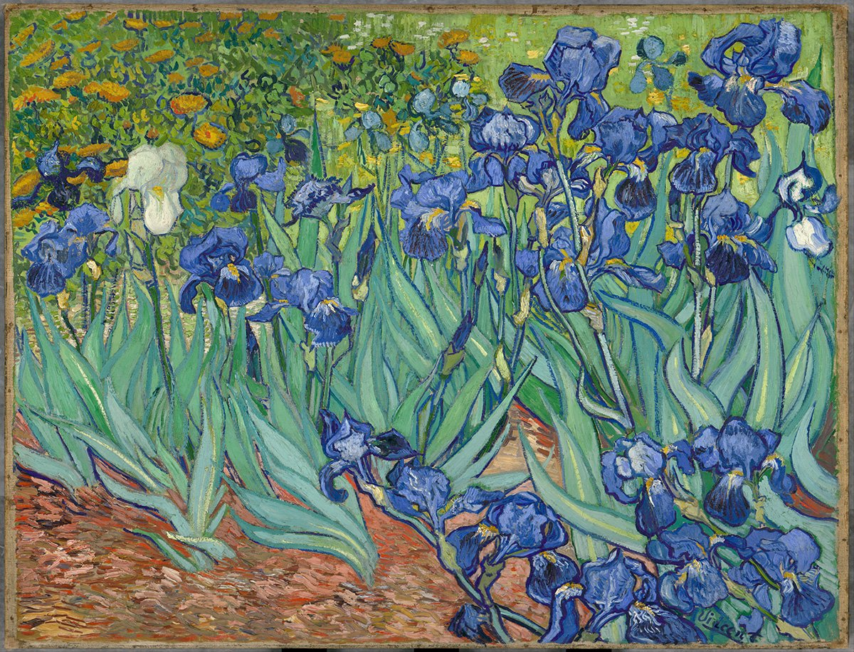 """""""I feel that there is nothing more truly artistic than to love people."""" ~ #quote and """"Irises"""" by Vincent van Gogh https://t.co/5xM8BbDM9C"""