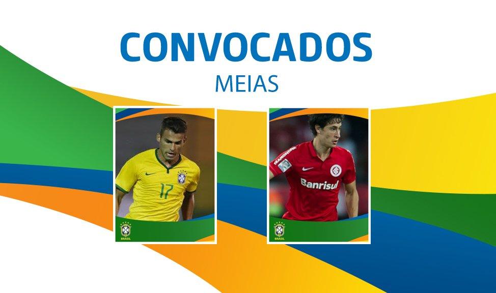 #SeleçãoOlímpica  Meias: Thiago Maia e Rodrigo Dourado