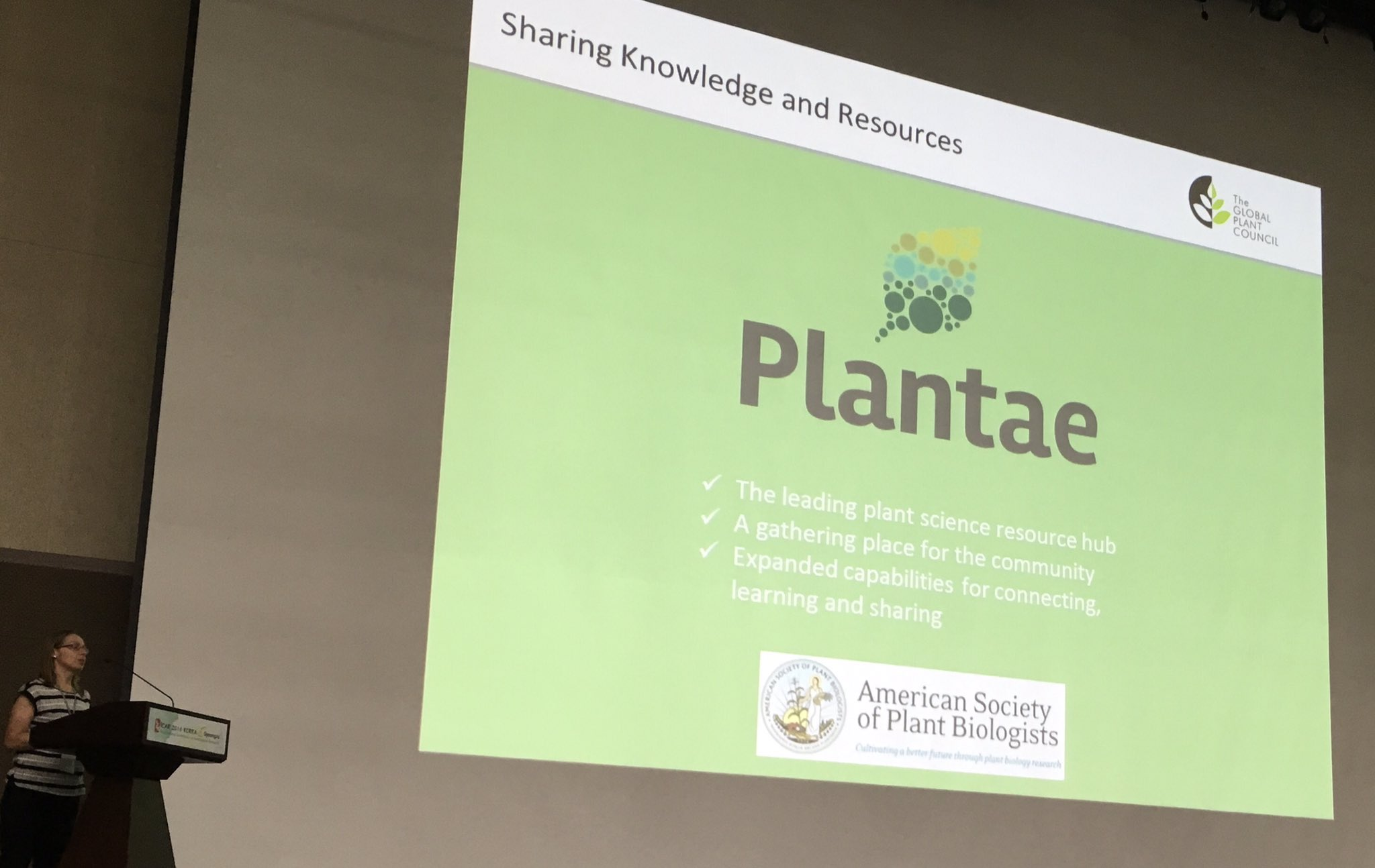 #icar_2016 Ruth introduces @aspb @GlobalPlantGPC Plantae. They're all about worldwide collaboration on all scales! https://t.co/kp8oPB3Zy8