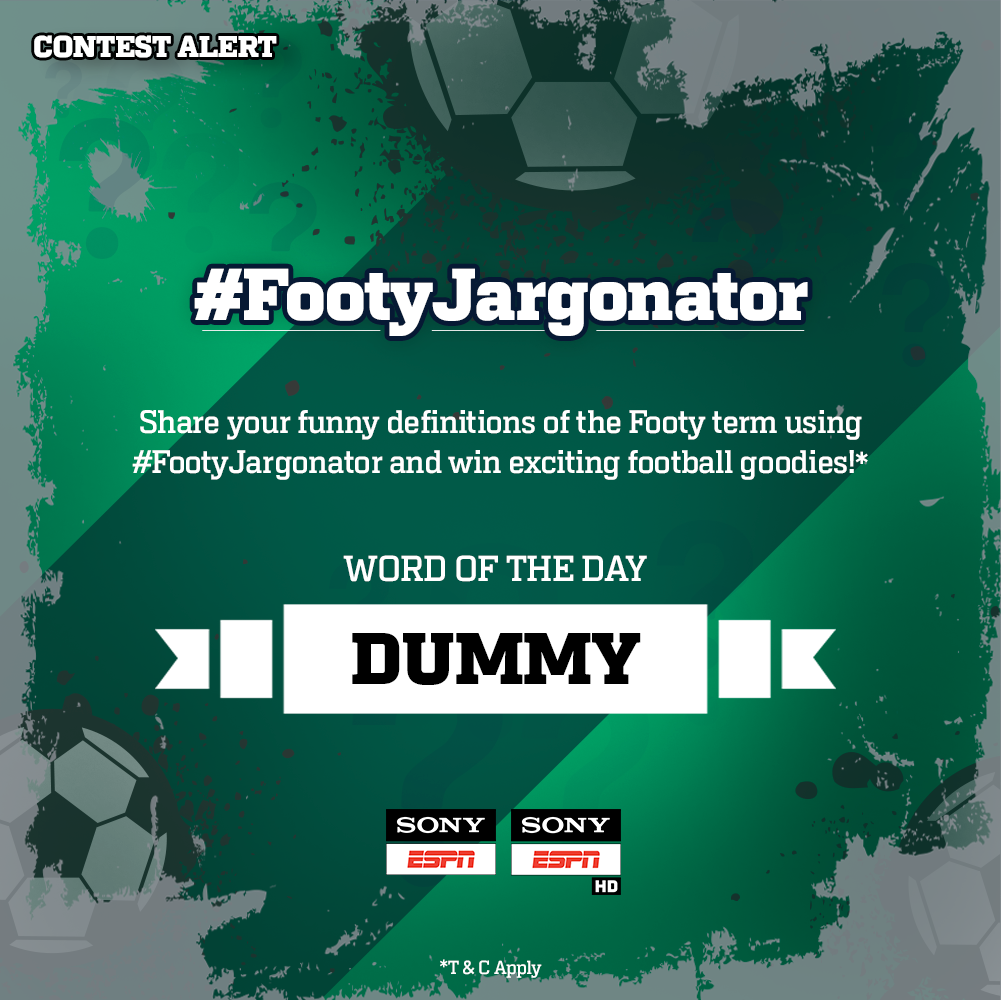 Dummy Share Your Funny Definition Of The Footy Term Using Footyjargonator Win Exciting Goo S Contestpic Twitter Com Jxoekaikn