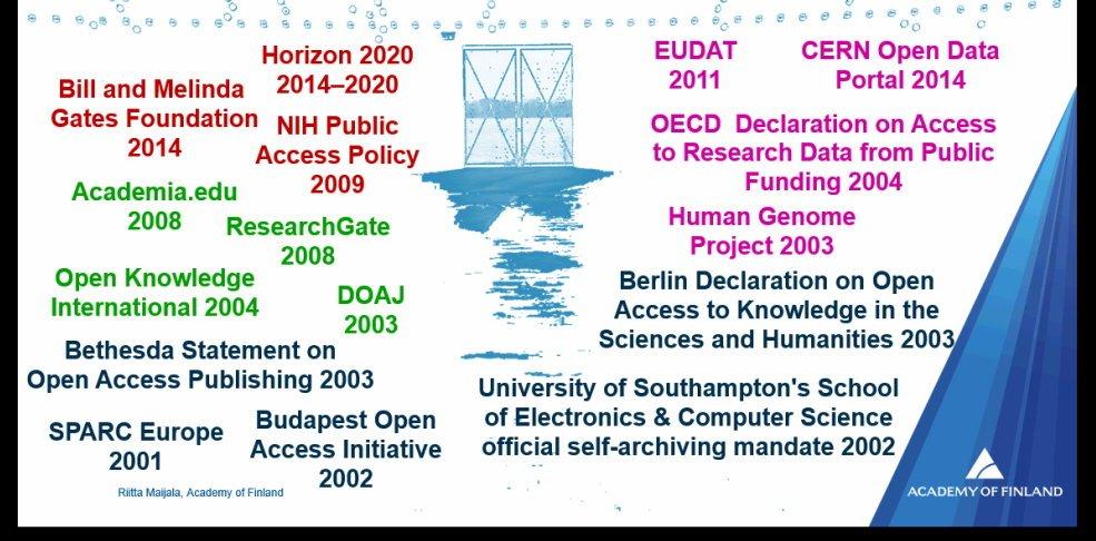 many developments in the progress towards #openscience - Riitta Maijala #liber2016 https://t.co/epeHg4Mi9D