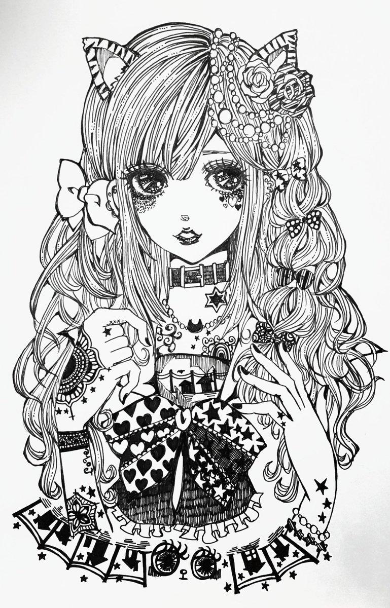 Miii Twitterren ペン画を流してペン画民を増やそう お絵描き好き