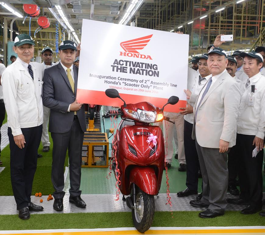 Honda inaugurates the 2nd assembly line at its Scooter Only plant in Gujarat