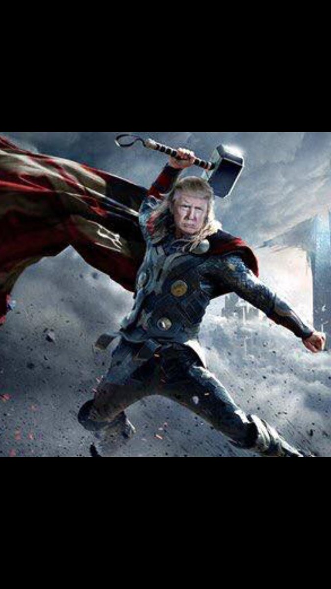 trump conservative on twitter ready to lay down the hammer of thor