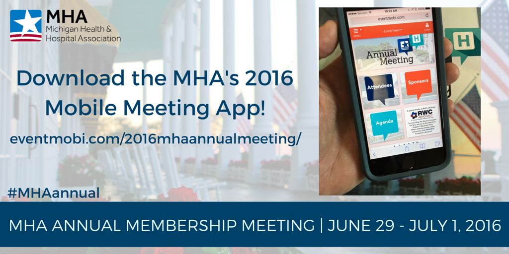 Members: Be sure to download our #MHAannual app for meeting news and updates: https://t.co/Umw33wZ51z #MiHealthcare https://t.co/2VLuPd1Gu2