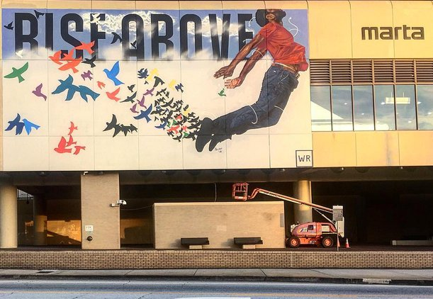 There's a new mural at the King Memorial Transit Station, y'all: https://t.co/DdxguUoIxI #ATLarts https://t.co/Bfga0ESKIr
