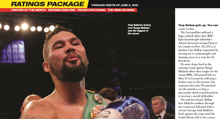 Congratulations to @TonyBellew on winning the @ringmagazine Fighter of the Month award in the latest issue #boxing https://t.co/TxIywG1V10