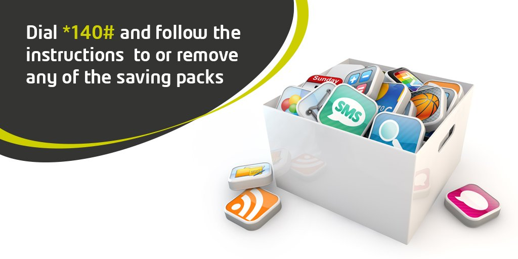Dial *140# and follow the instructions  to add or remove any of the saving packs https://t.co/VmS9U5vsva