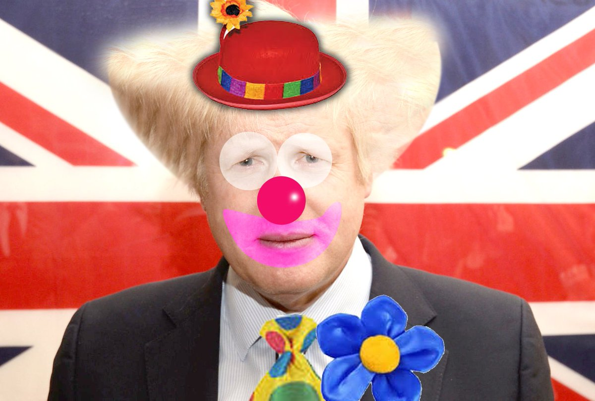 "Dermot Ahern on Twitter: ""Scary thought . . . BoJo (Boris Johnson) the Clown who could become King… """
