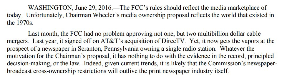 On the FCC's proposal to keep media ownership rules mired in the 1970s:  http:// go.usa.gov/x3Ybk     #WelcomeBackKotter <br>http://pic.twitter.com/lxPoJUrSnu