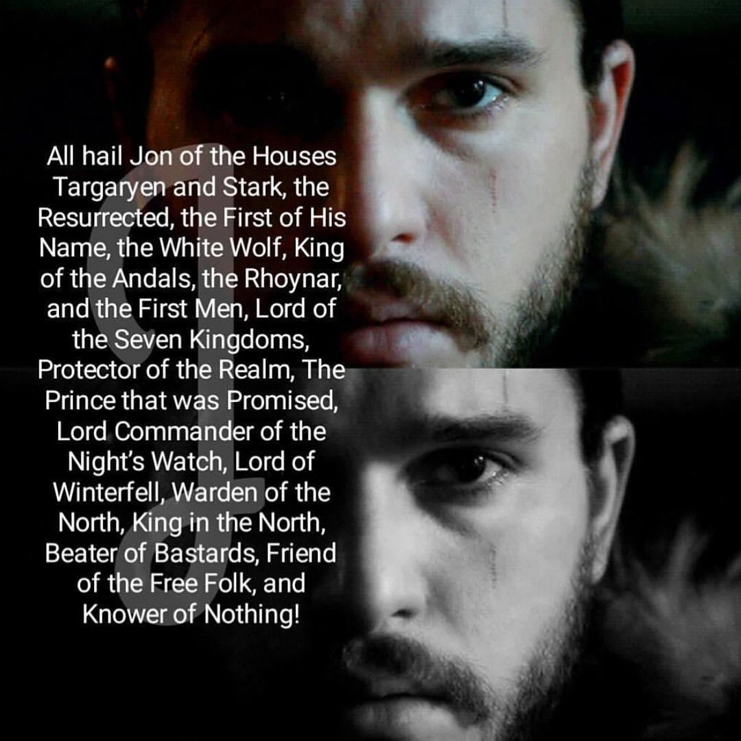 King Jon Snow On Twitter Long May He Reign GameOfThrones