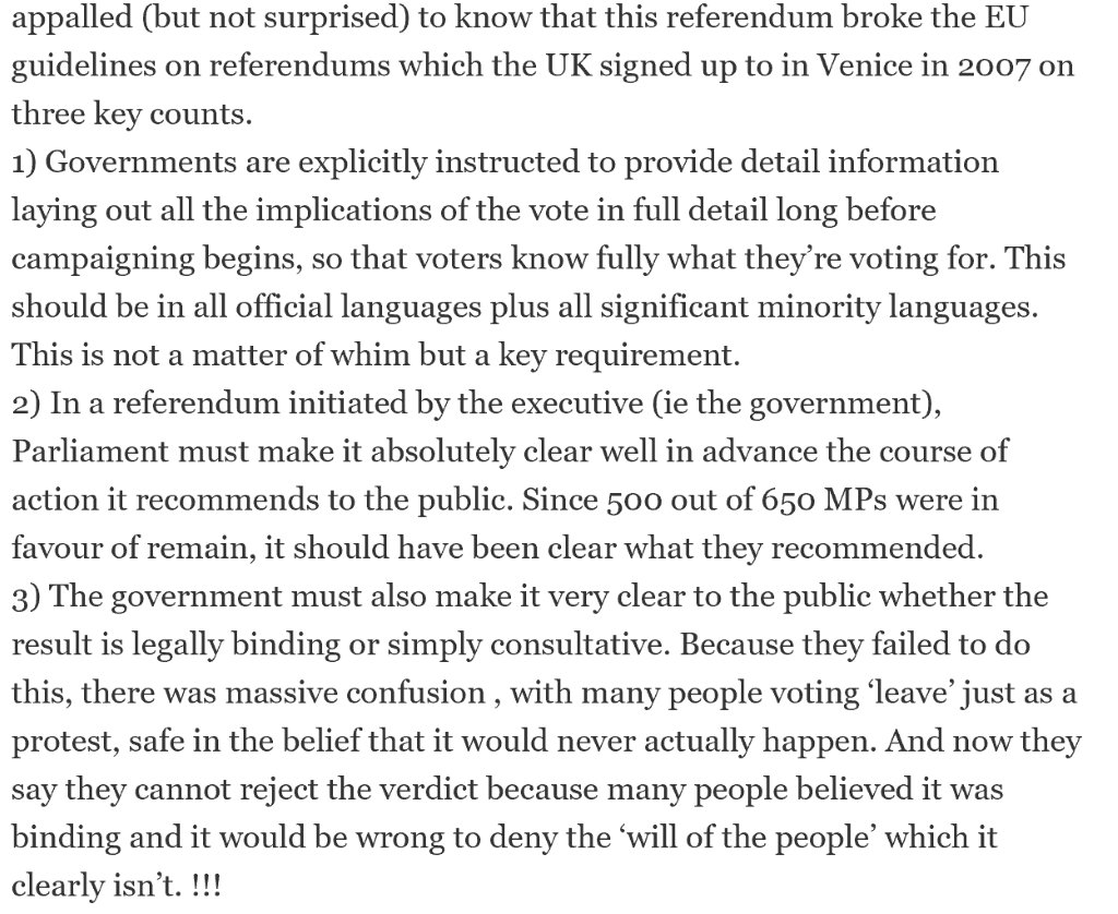 today in 'the EU might have useful laws' the interesting point that the referendum didn't meet EU standards https://t.co/RA94Is39Pi