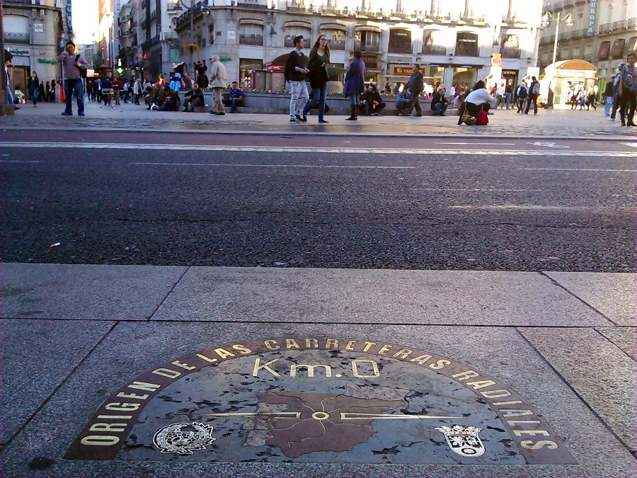 Secretosdemadrid on twitter sab as que hasta 1950 no se for Kilometro cero puerta del sol