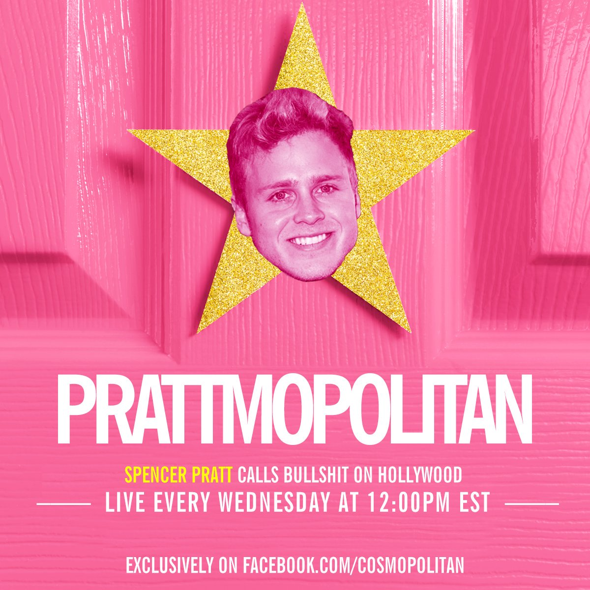 Time for your fav @spencerpratt to give the lowdown on all things Hollywood. Tune in now: https://t.co/OGgLAL25Xx https://t.co/F5QU1FeWAW