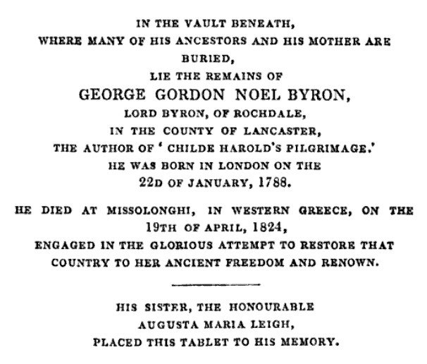 test Twitter Media - RT @Wordsworthians: #OTD 1824 Byron is buried  https://t.co/6PshuxQ0HT