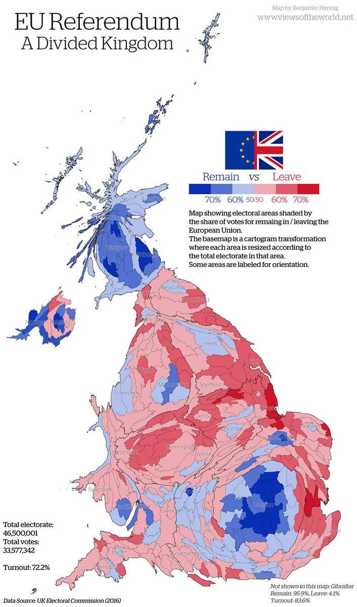 Cartogram Special –Brexit