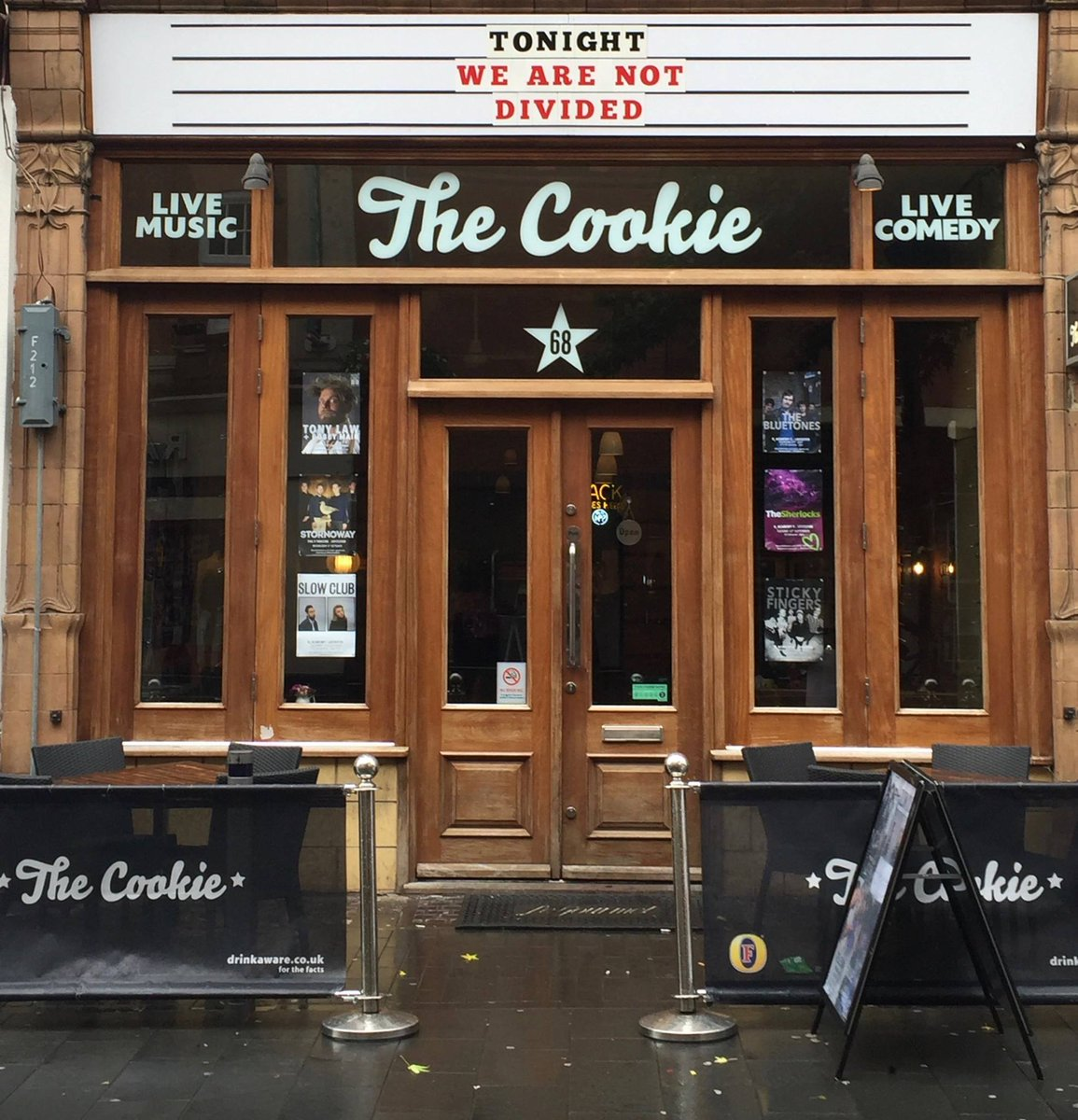 We just want to say all are welcome here at The Cookie no matter age, sex, race or sexual orientation #UnitedWeStand https://t.co/3Kb1D2mOHH