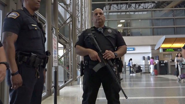 Some extra airport security measures are more visible than others